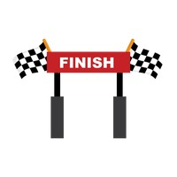 Race Track Finish Line Clipart.