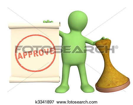Stock Illustration of Approve k3341897.
