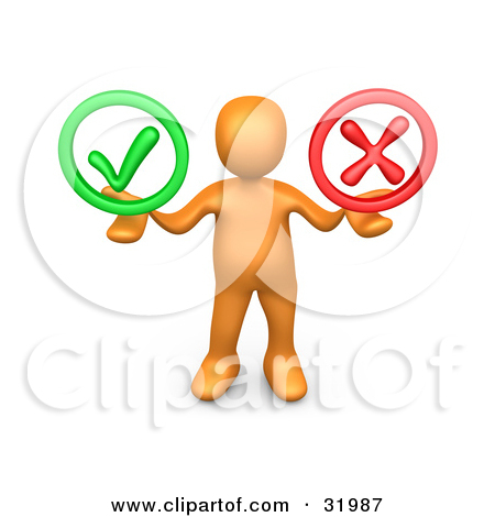 Clipart Illustration of a Green Check Mark And Approved Stamp On A.