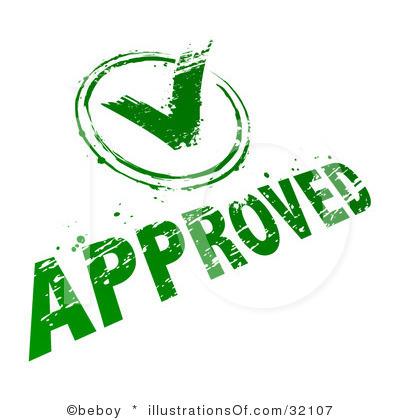 Approval Clip Art.