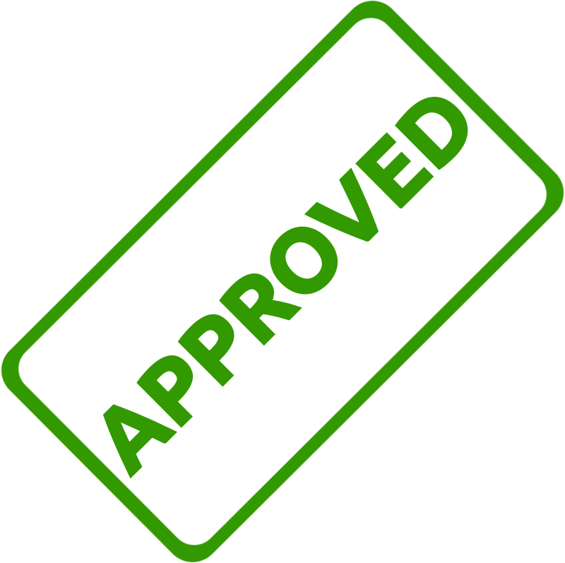 Free Clipart: Approved Business Stamp 1.