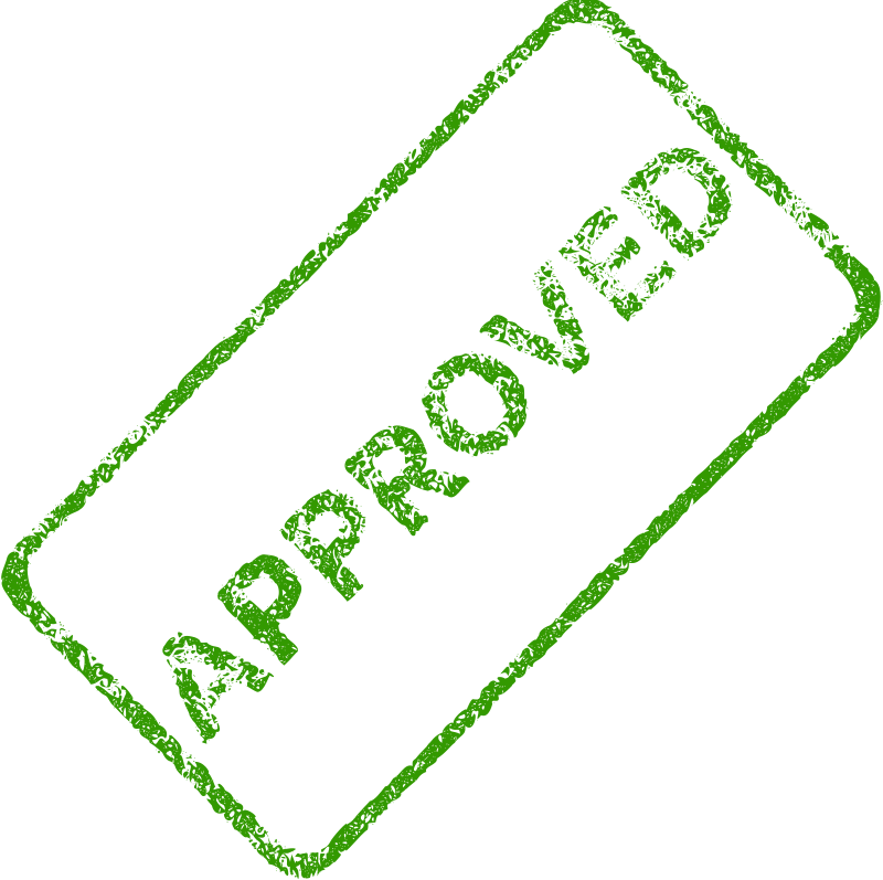 Free Clipart: Approved Business Stamp 2.