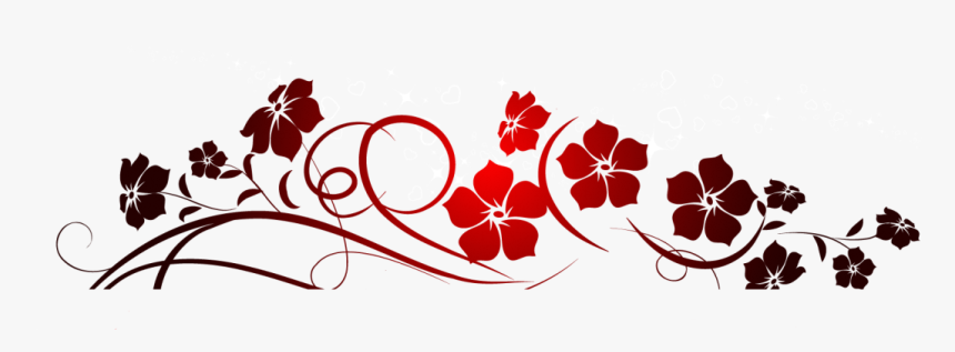 Red Flowers Decoration Png.