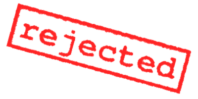 Rejected Stamp PNG Transparent Images.