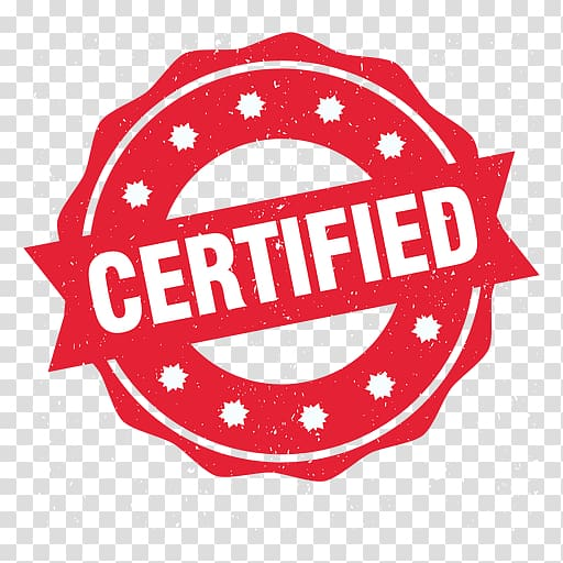 Rubber stamp Professional certification, approved.
