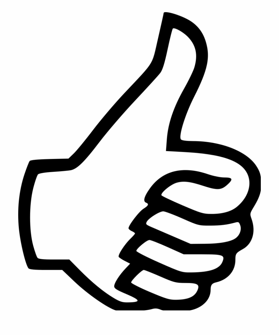 Thumb Clipart Thumbs Up Icon.