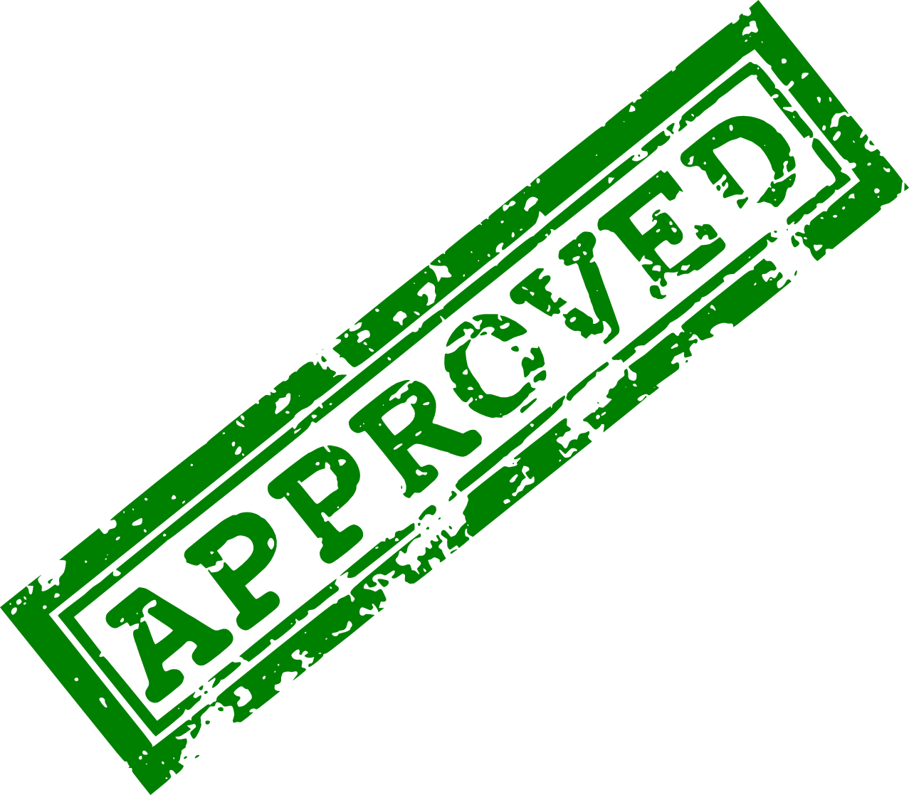 Approved Stamp PNG Clipart.
