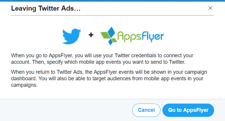 Twitter configuration with AppsFlyer.