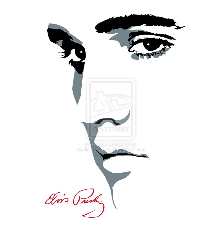 Elvis Face Silhouette  pic source in 2019.