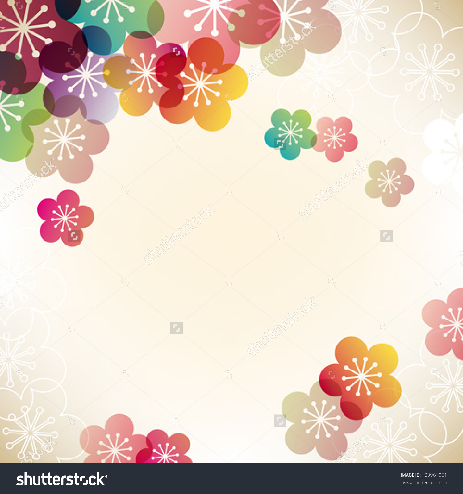 Japanese Apricot Background Stock Vector 109961051.