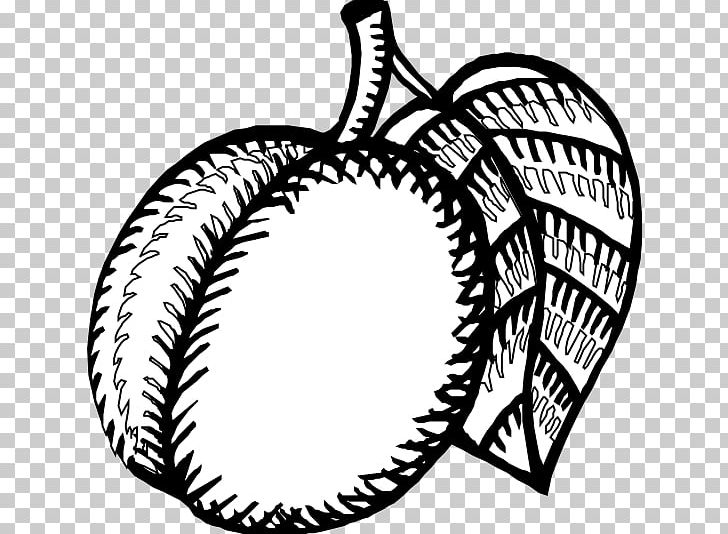 Nectarine Black And White Drawing Coloring Book PNG, Clipart.