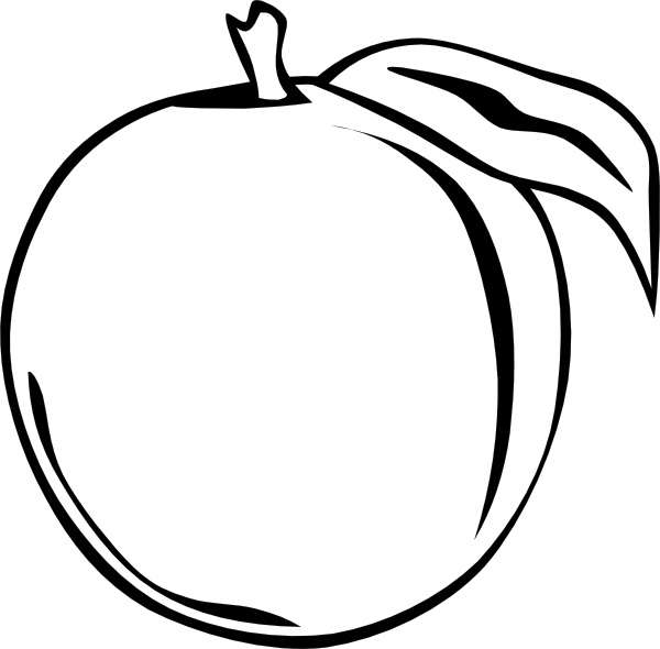 Peach Apple clip art Free vector in Open office drawing svg.