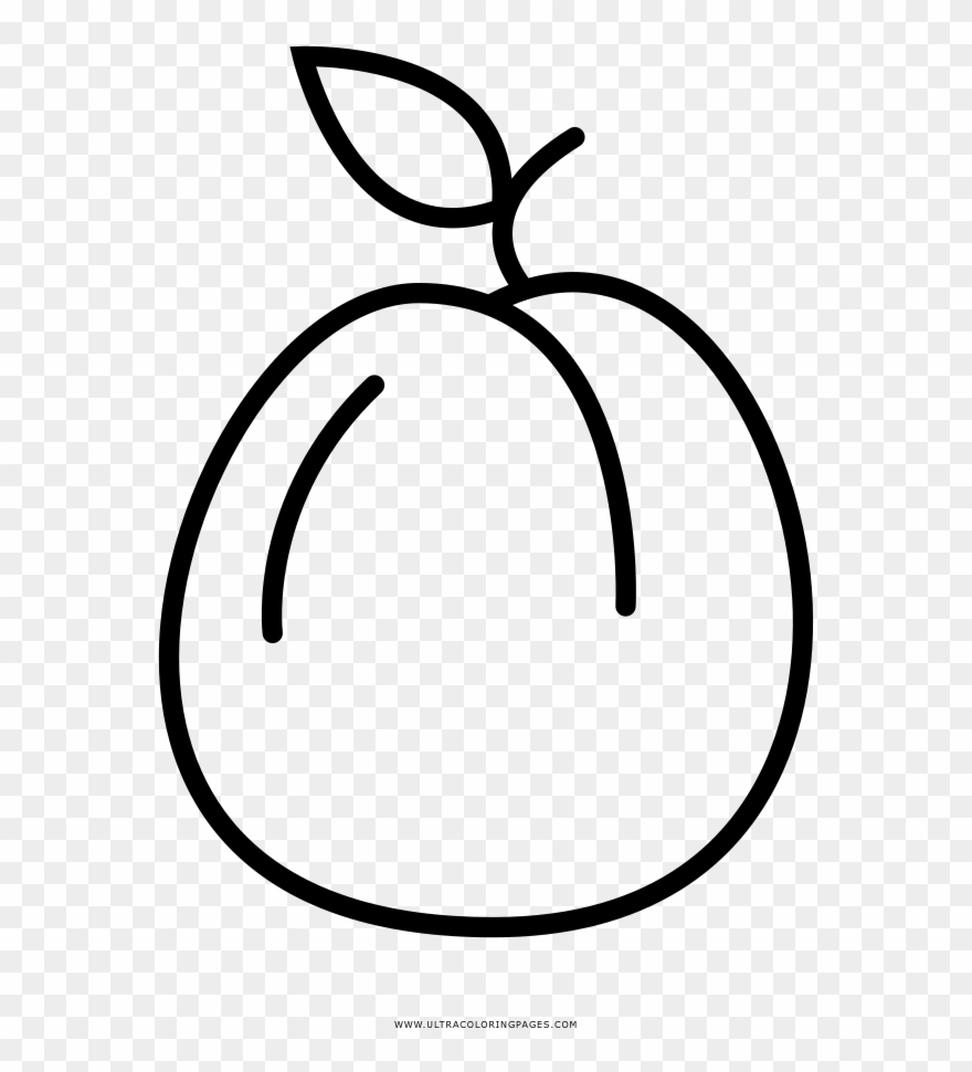 Apricot Coloring Page.