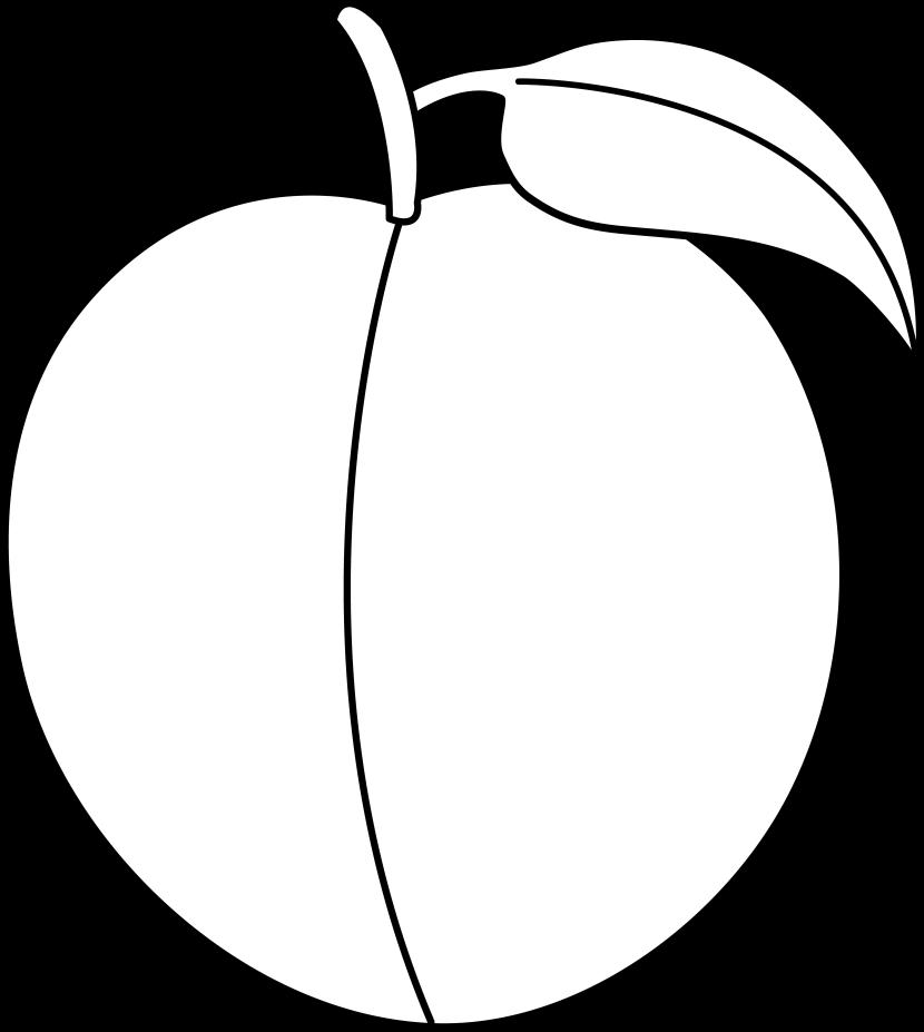 Peaches clipart black and white, Peaches black and white.