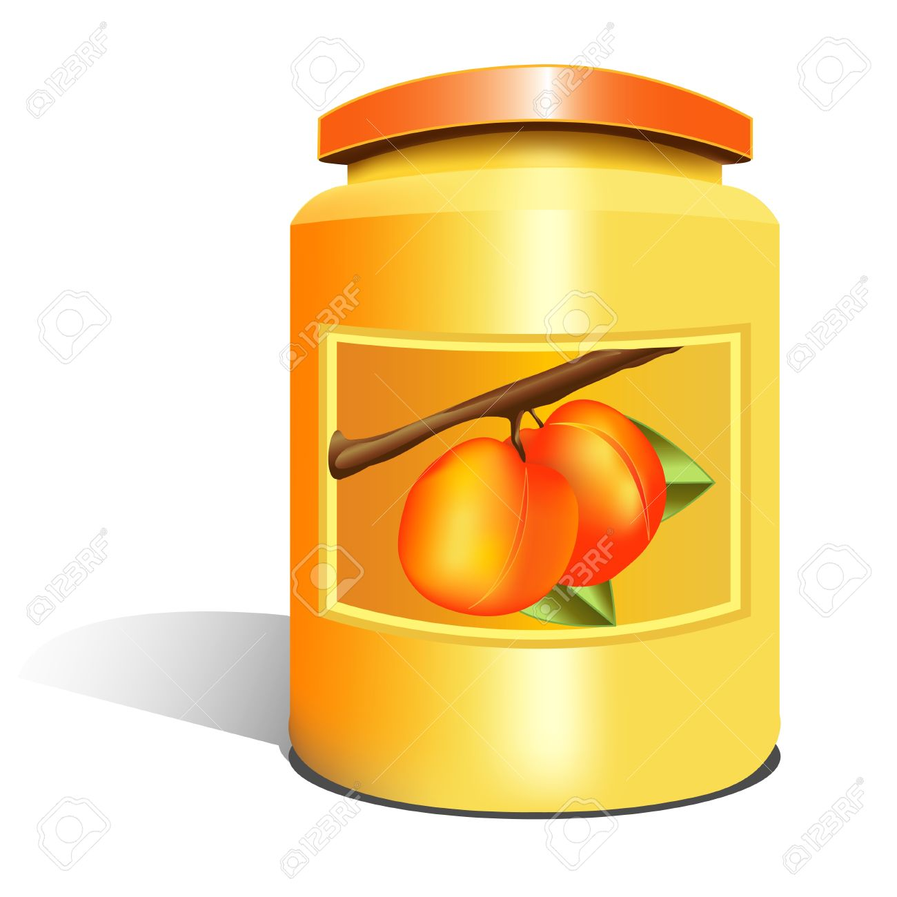 Isolated Apricot Jam Jar Royalty Free Cliparts, Vectors, And Stock.