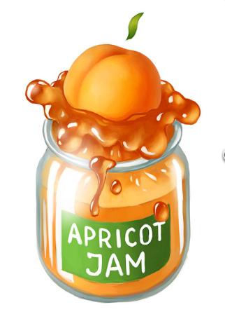 Apricot jam clipart #3