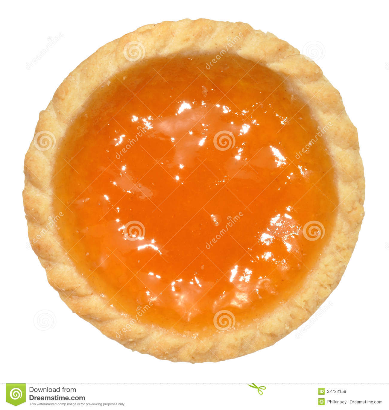 Apricot Jam Tart Royalty Free Stock Images.