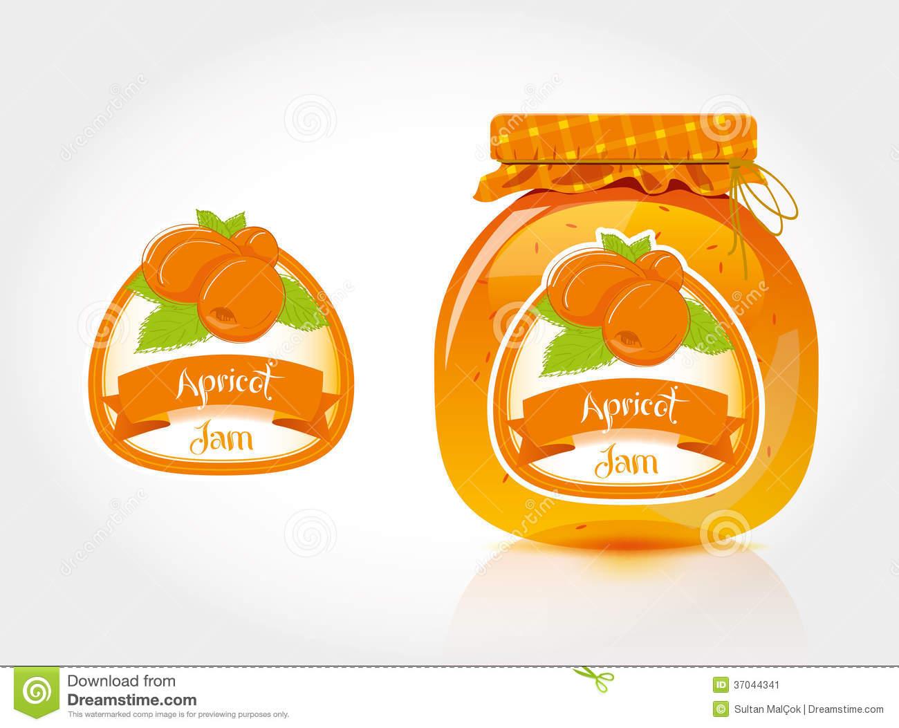 Apricot jam clipart #19