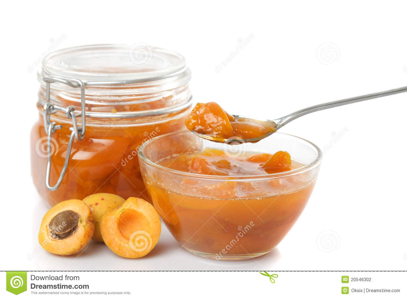 Apricot Jam Stock Photography.