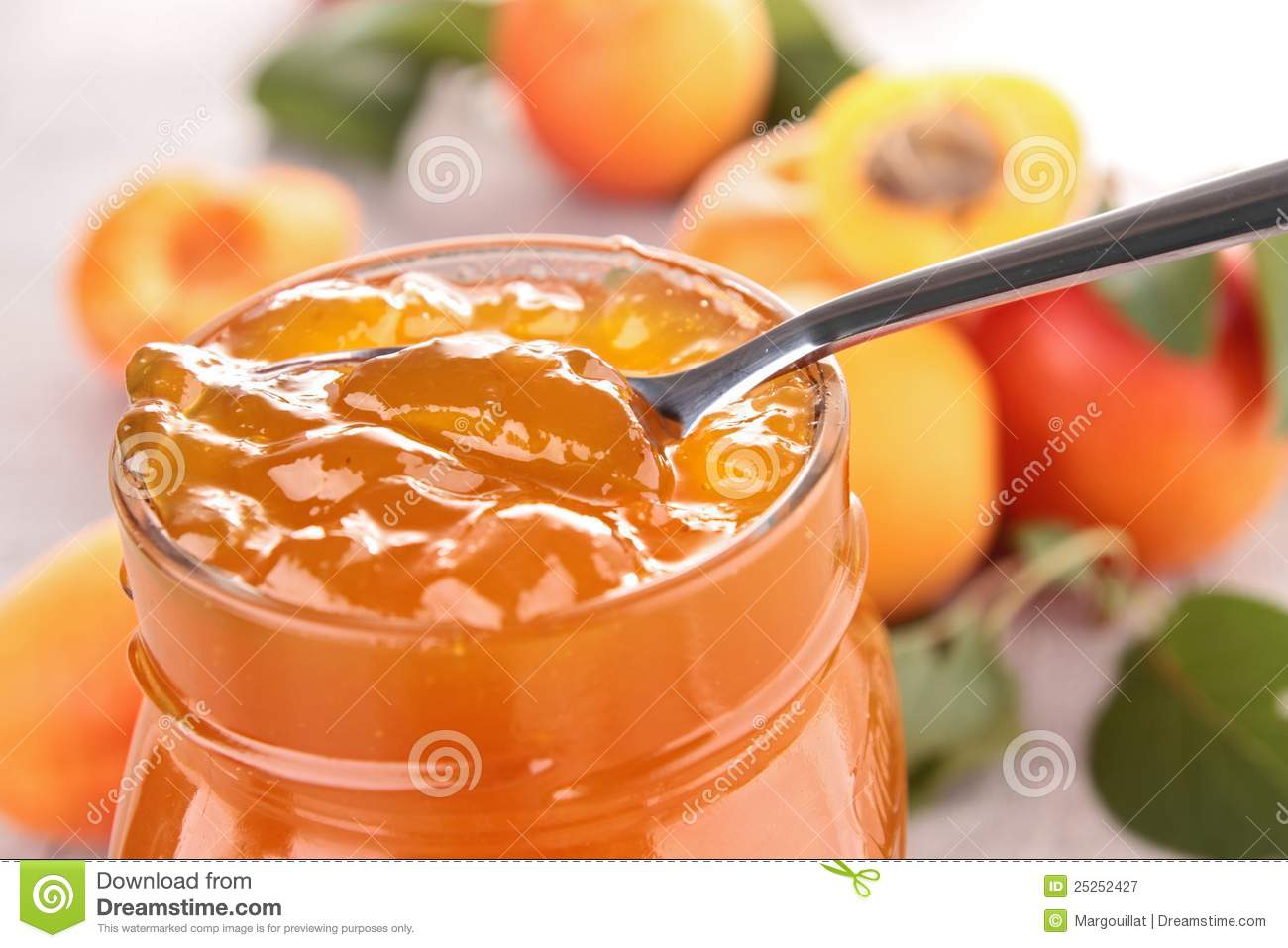 Apricot Jam Royalty Free Stock Photography.