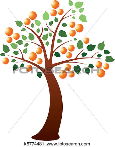 Clipart of money tree with fruits and leaves k7091861.