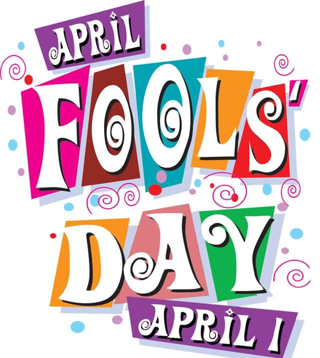 April Fools Day April 1 Clipart.