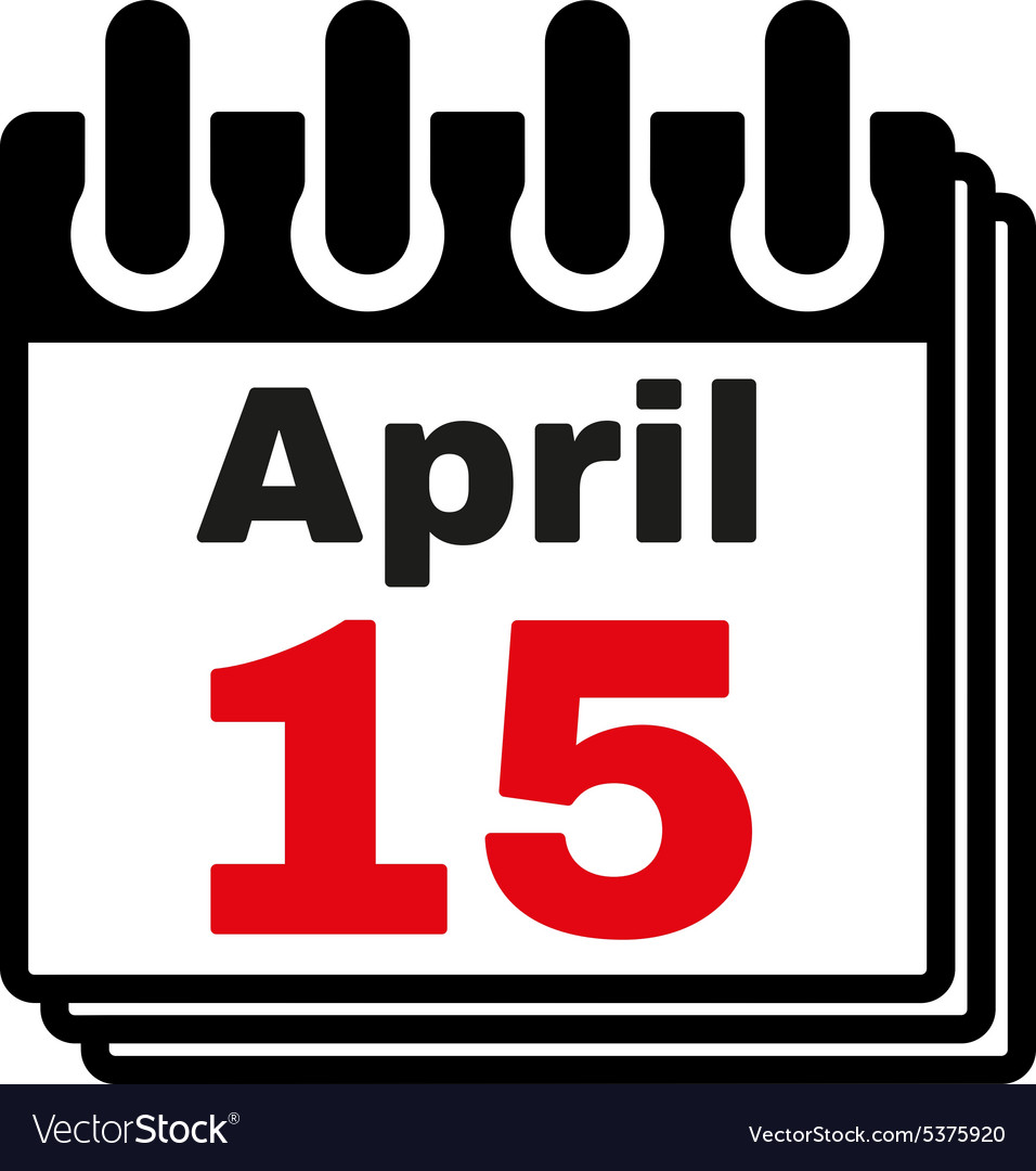 The Calendar 15 april icon Tax day.
