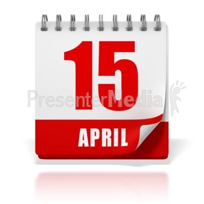 office calendar april 15.