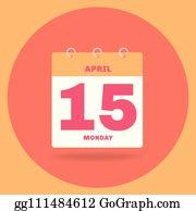 April 15 Clip Art.