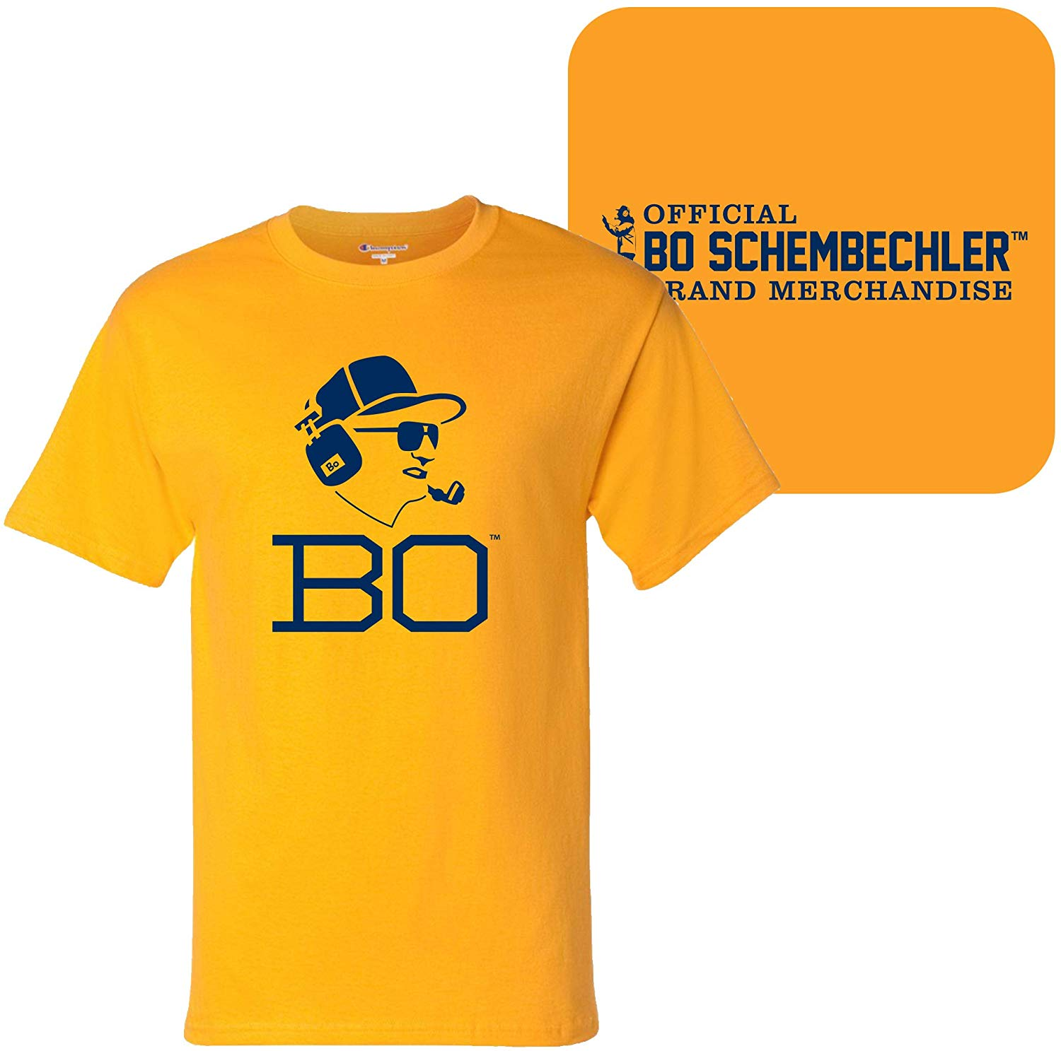 Bo Schembechler Headset Champion Short Sleeve T Shirt.