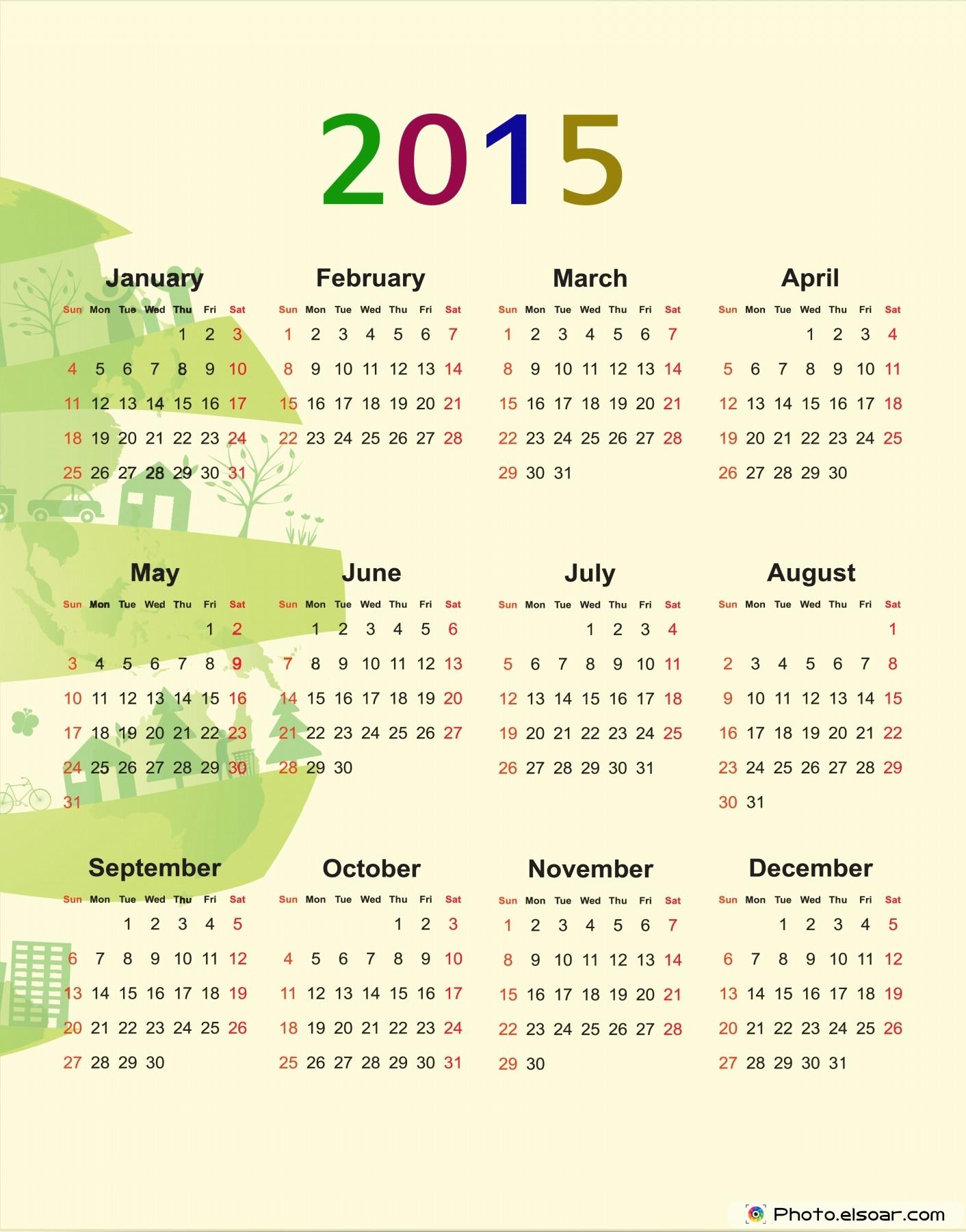 New Year 2015 Calendars (Clip Art) • ELSOAR.
