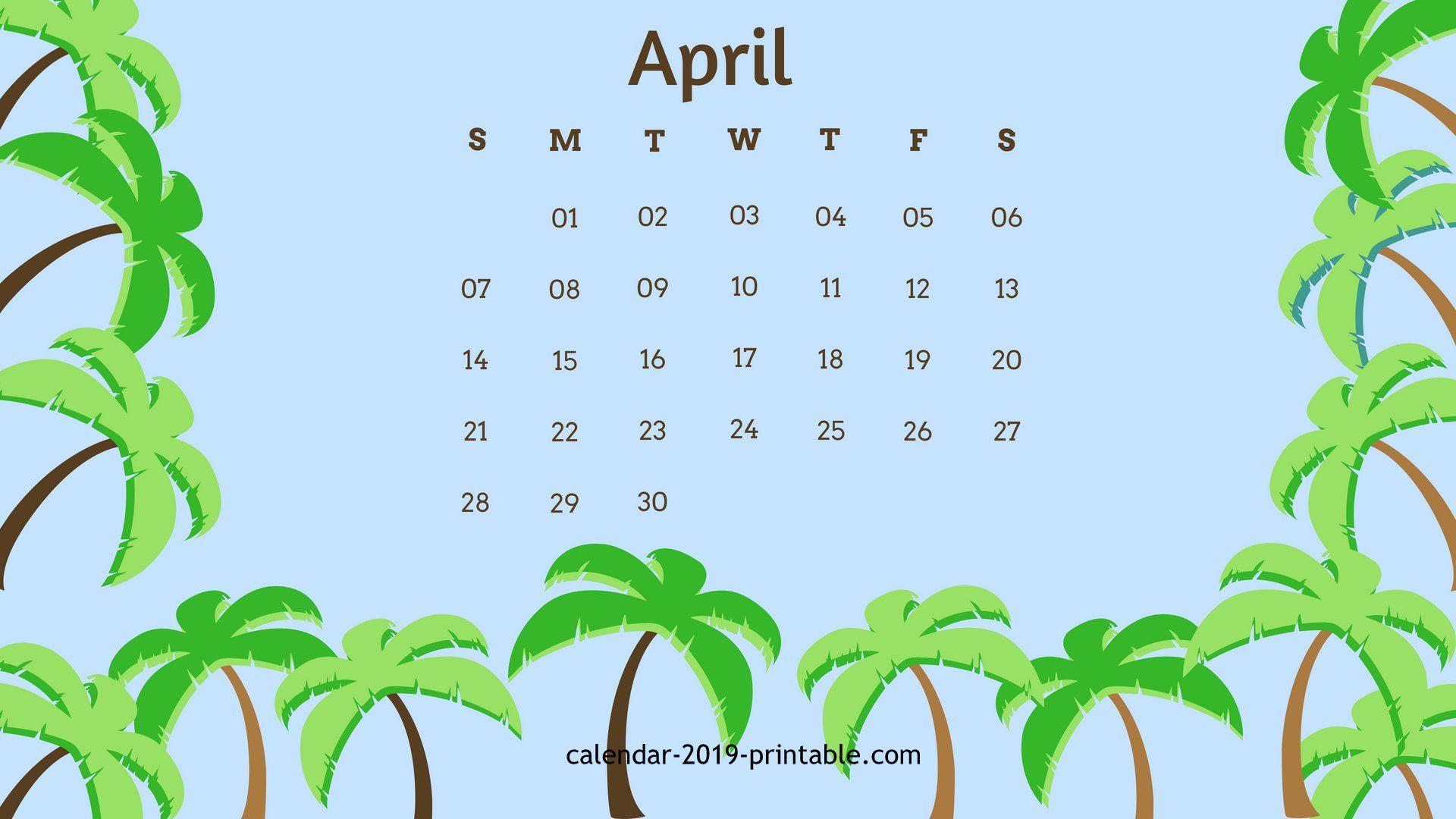 free april 2019 wallpaper calendar in 2019.
