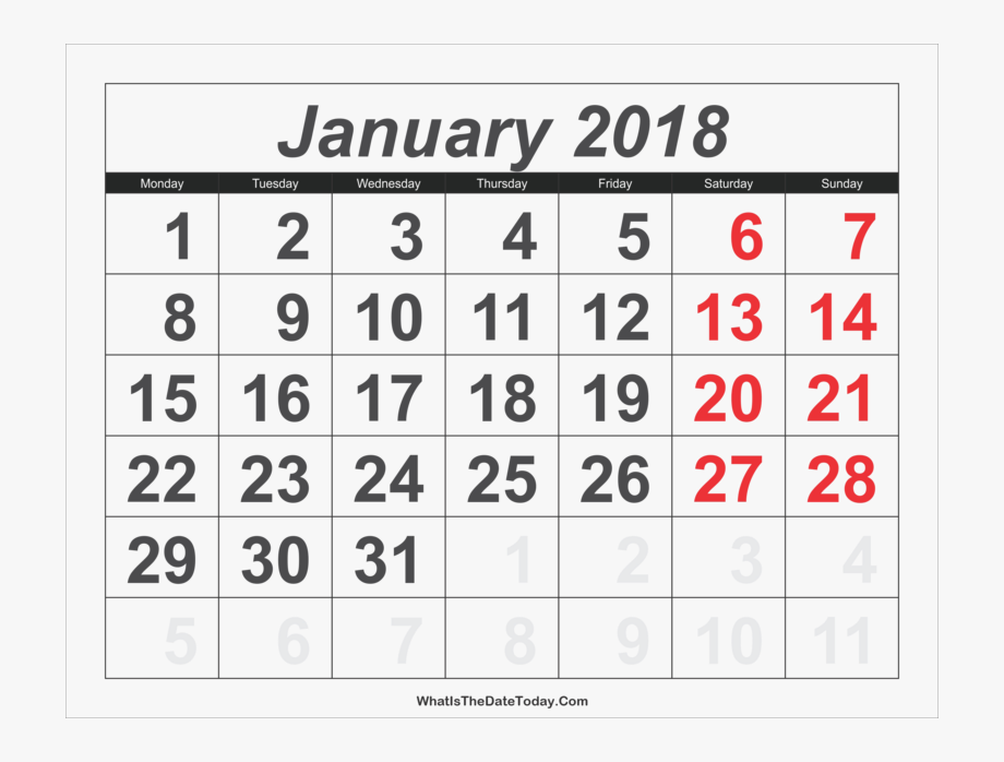 January Png Clipart.