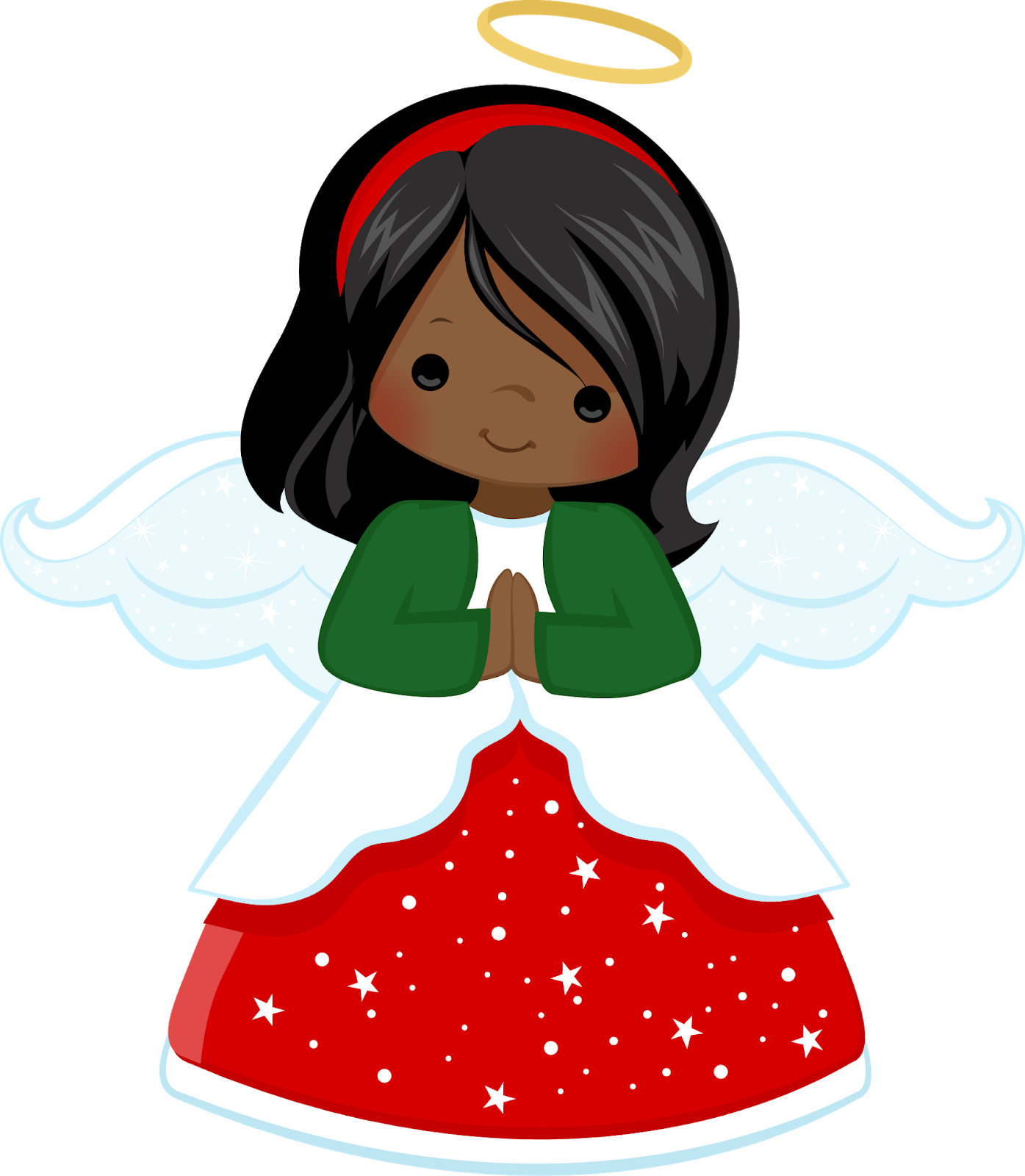 Fans of Carolyn DeAngelis Felt Ornaments: Sparkle Angel.