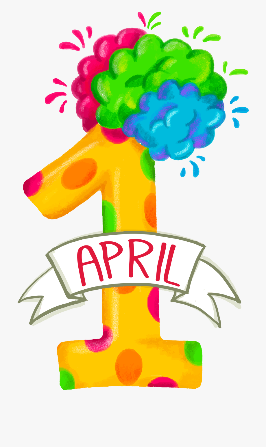 April Fools Day Png Stock Images.