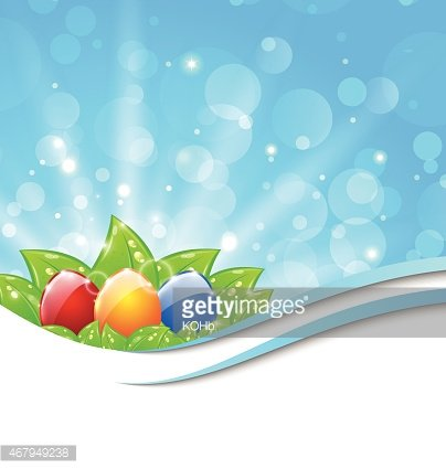 April background with Easter colorful eggs Clipart Image.