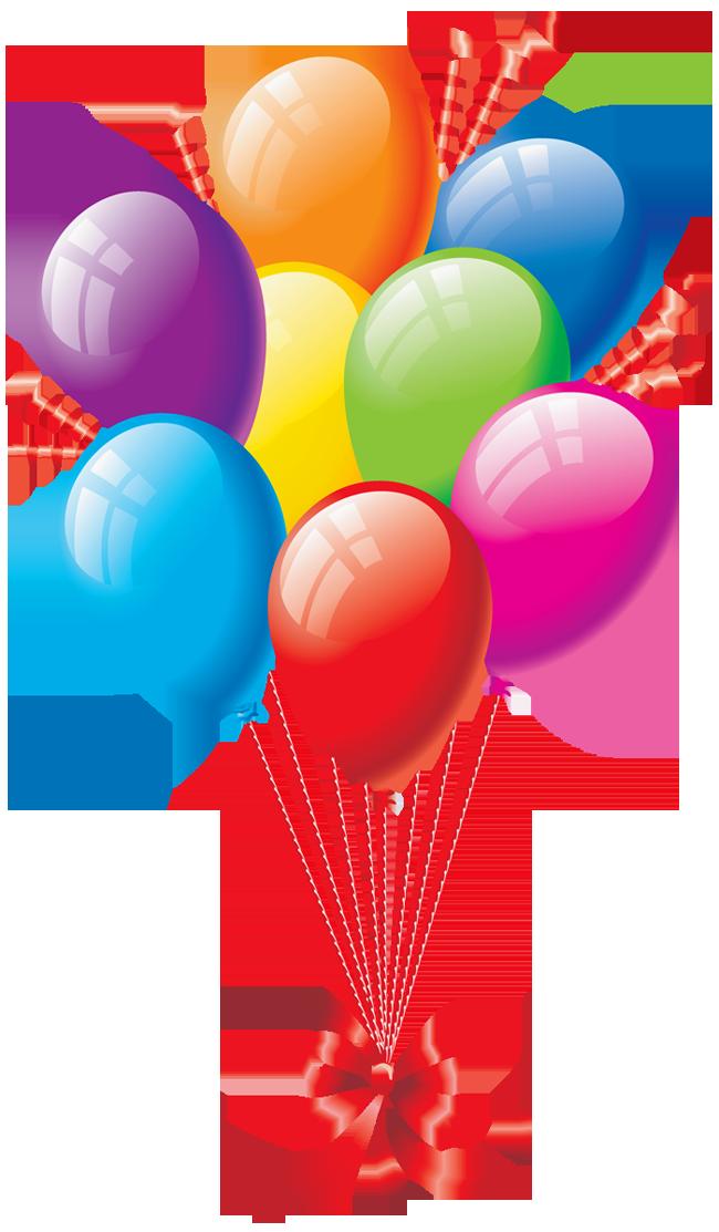 many balloons.