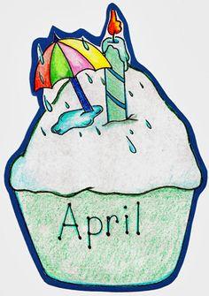 April Birthday Clipart.