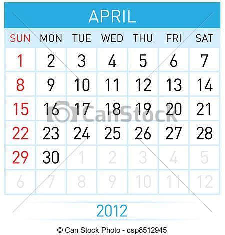 April calendar clipart 1 » Clipart Portal.