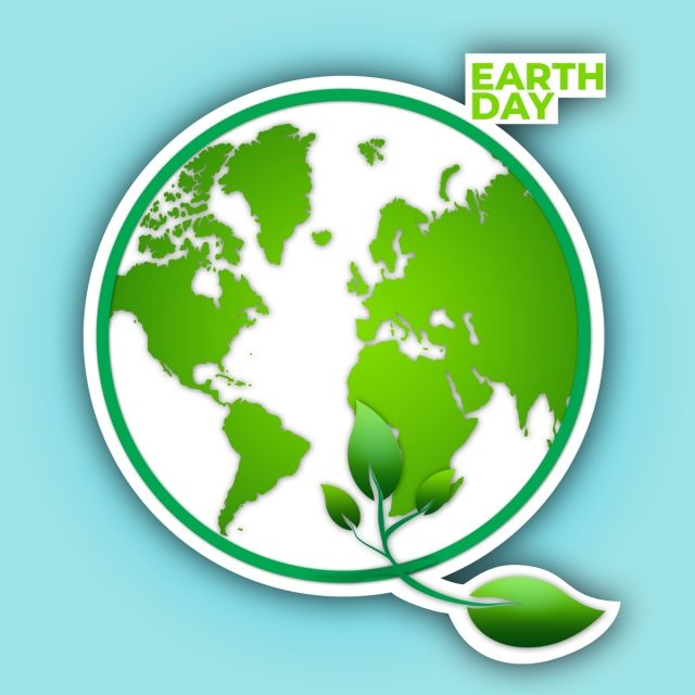 Circle Earth Day Vector, Backgrounds, Earth Day 2019, April.