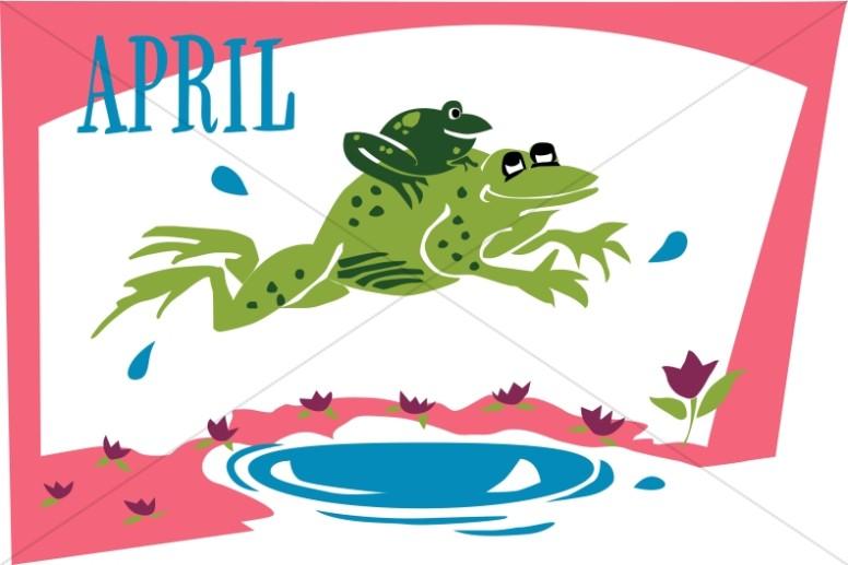 Jumping Froggies in April.