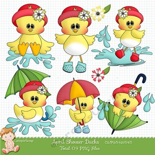 April showers clipart commercial use,Duck Clipart, Umbrella.