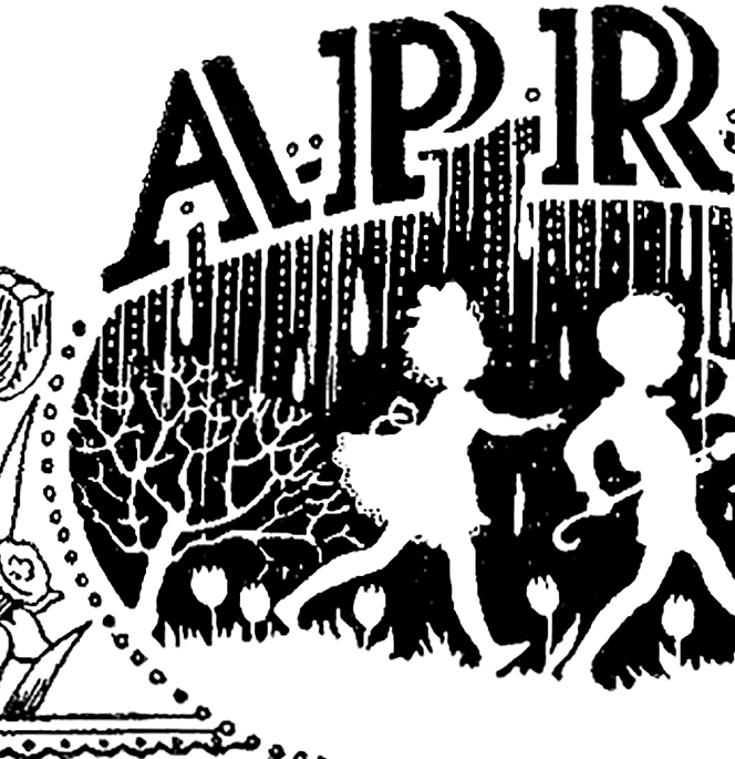 April clipart vintage, April vintage Transparent FREE for.