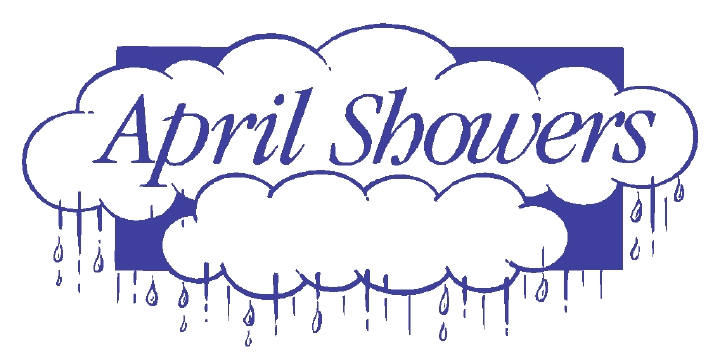 April showers month of may border clipart.