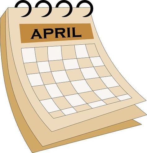 April calendar clipart.