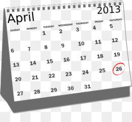 April Calendar png free download.