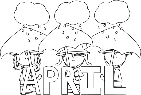 Black and White Month of April Showers.