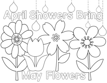 April Showers Bring May Flowers Coloring Page at GetDrawings.