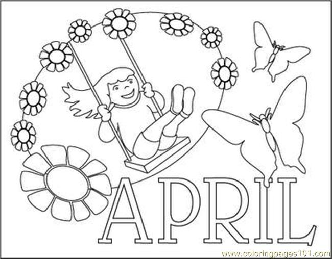 Free Coloring Pages For April, Download Free Clip Art, Free.
