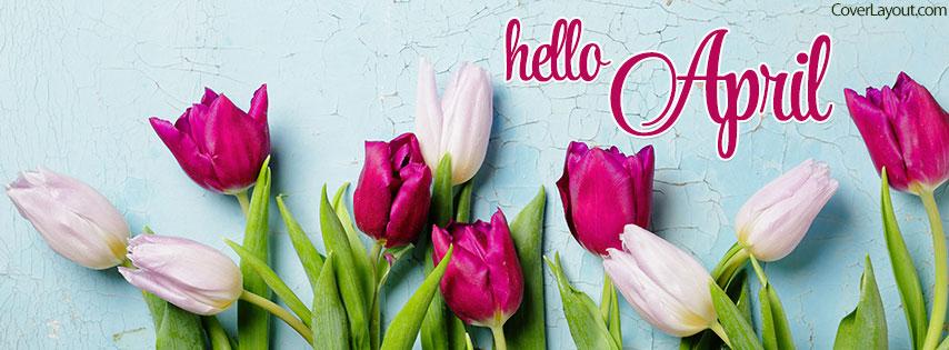 April Facebook Cover Flower Pics.